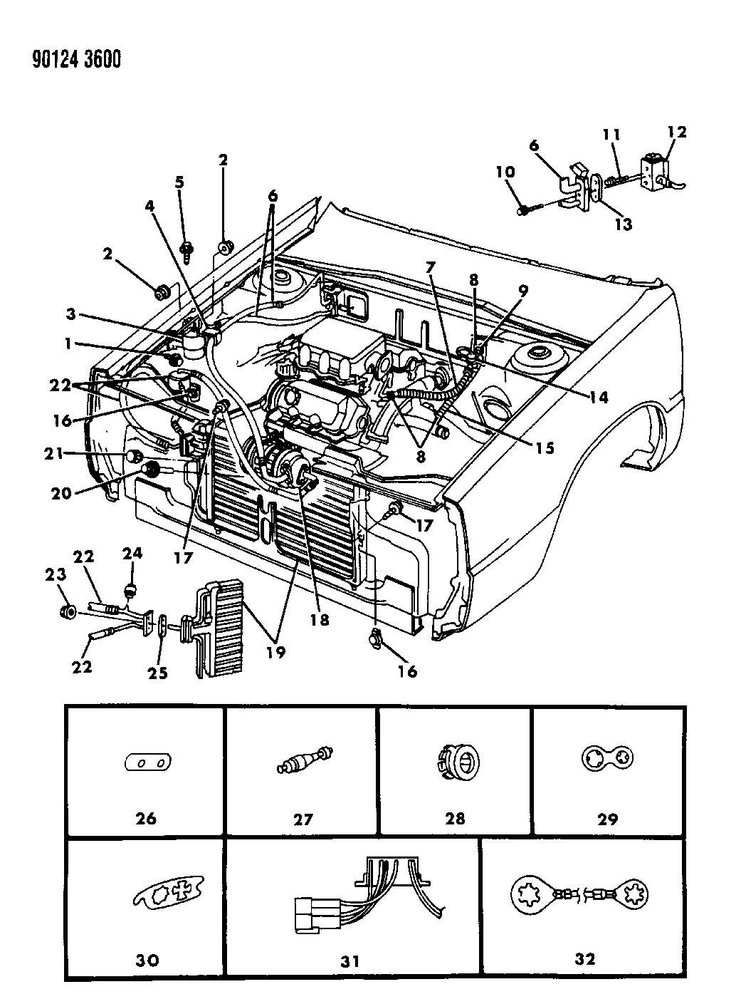 1990 dodge dynasty wiring diagram 1990 dodge dynasty plumbing a c   heater mopar parts giant  1990 dodge dynasty plumbing a c
