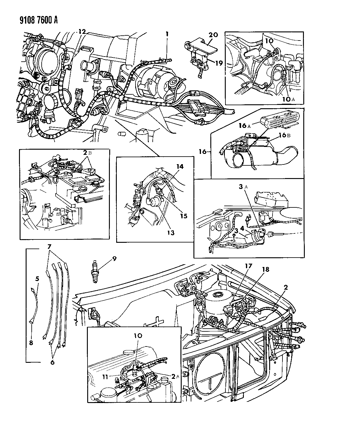 1989 Chrysler Lebaron Gts Wiring Engine Front End Related Parts Diagrams