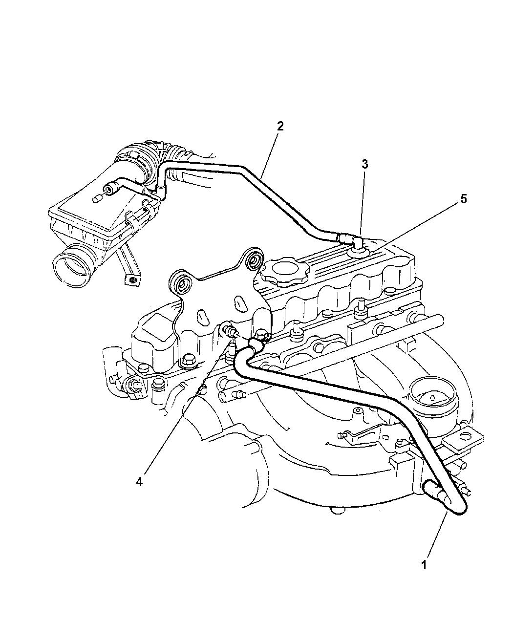 1998 Jeep Cherokee Crankcase Ventilation Mopar Parts Giant Transmission Wiring Plug Thumbnail 1