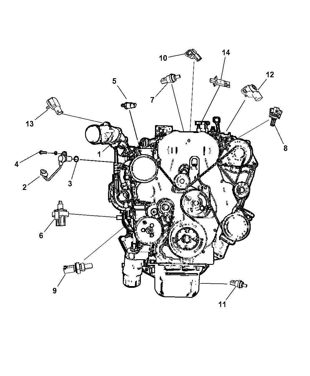 2013 Jeep Compass Sensor Engine Mopar Parts Giant Diagram