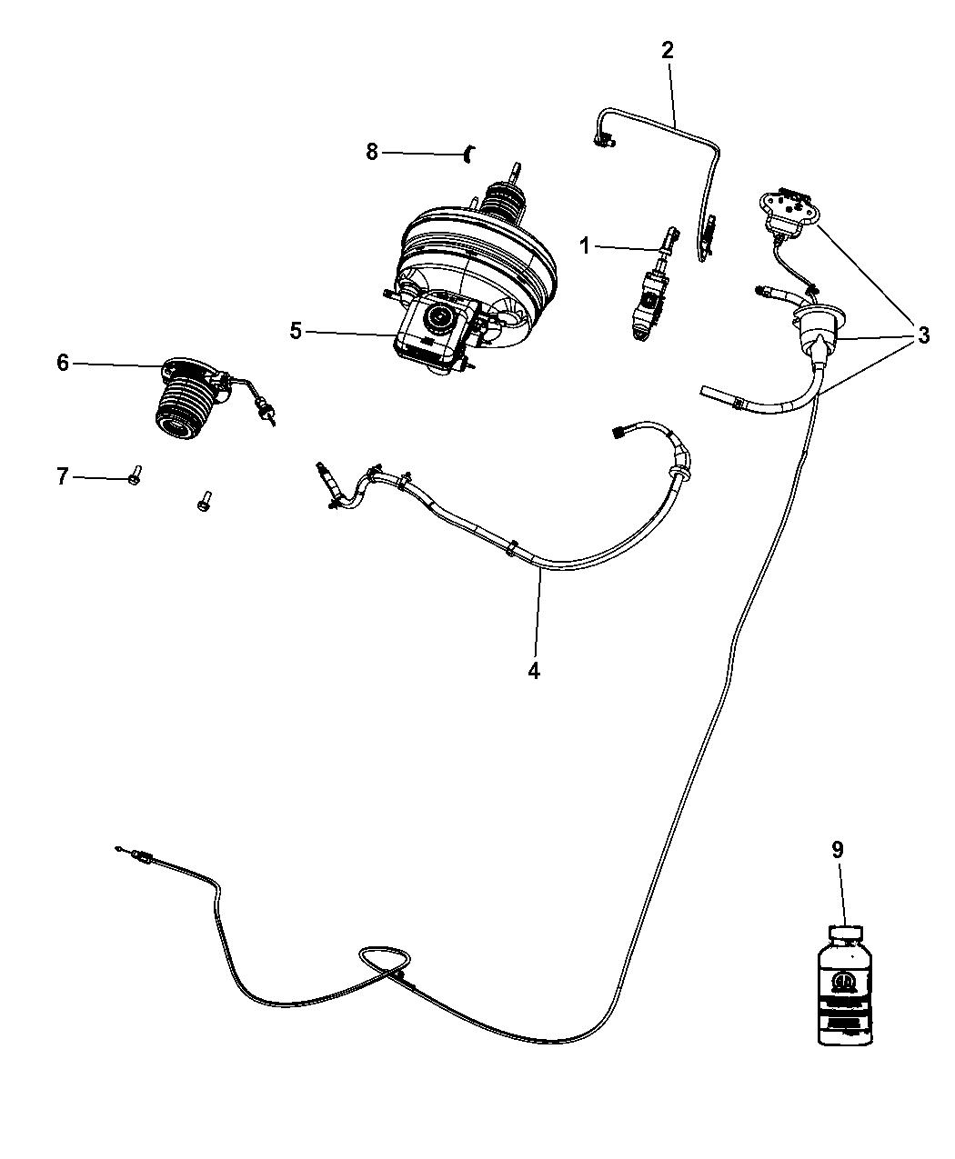 68050183AA - Genuine Dodge SWITCH-CLUTCH STARTER INTERLOCK