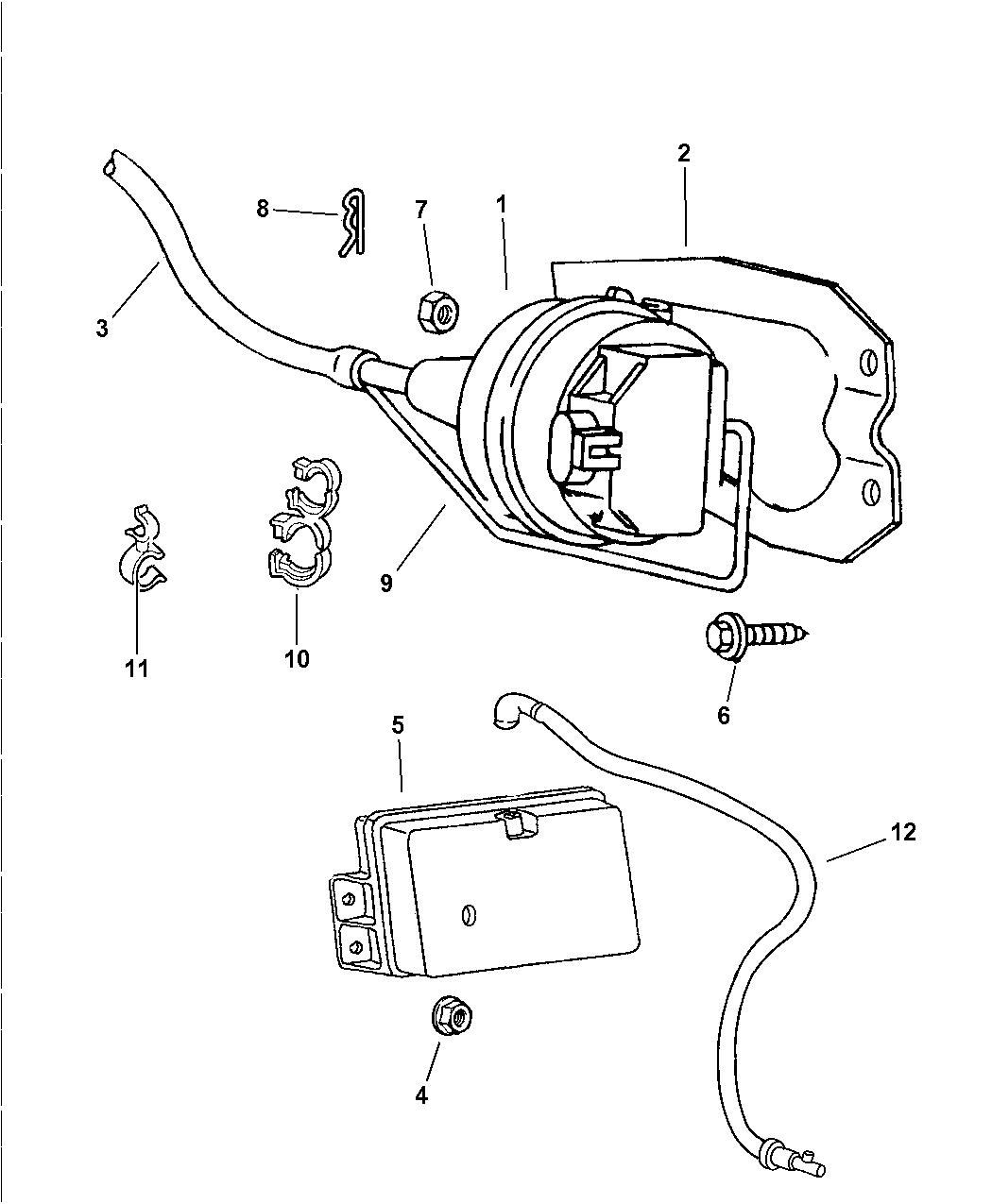 52078323 - Genuine Dodge HARNESS-VACUUM SPEED CONTROL