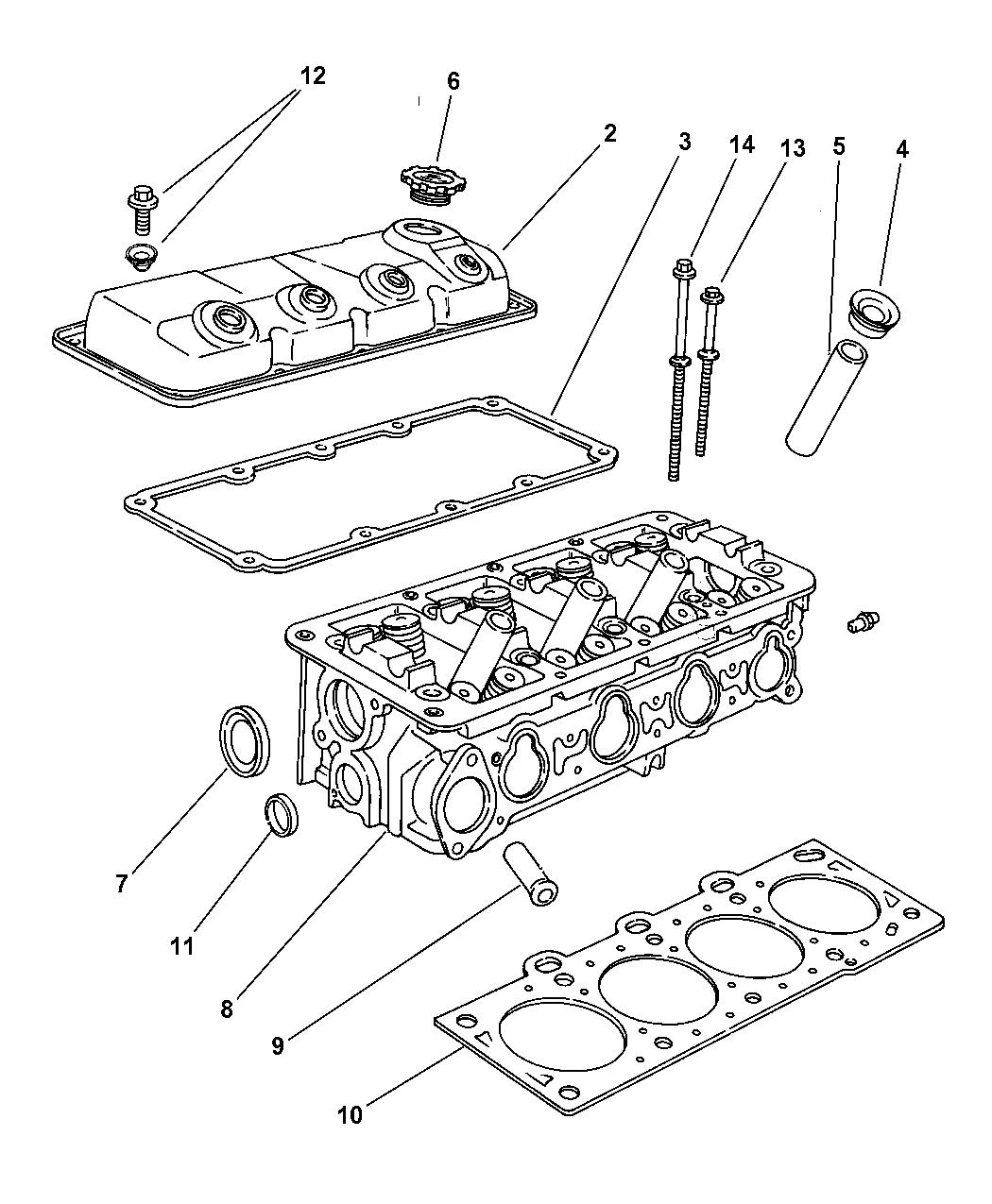 Genuine Dodge GASKET PKG-CYLINDER HEAD