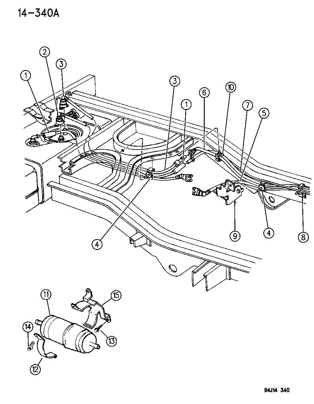 1996 jeep grand cherokee fuel lines, rear