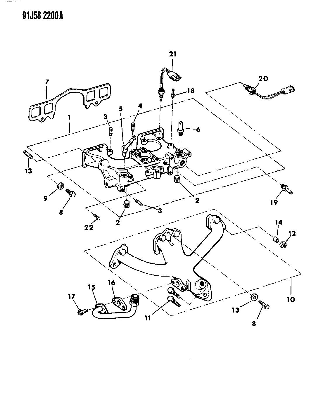 1991 Jeep Comanche Manifold - Intake & Exhaust - Thumbnail 2