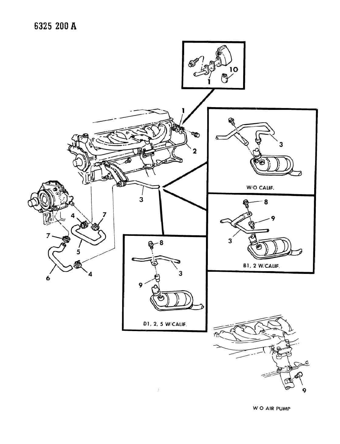1987 Dodge Ram Van Air Pump Tubing Mopar Parts Giant Vanair Wiring Diagram Thumbnail 1