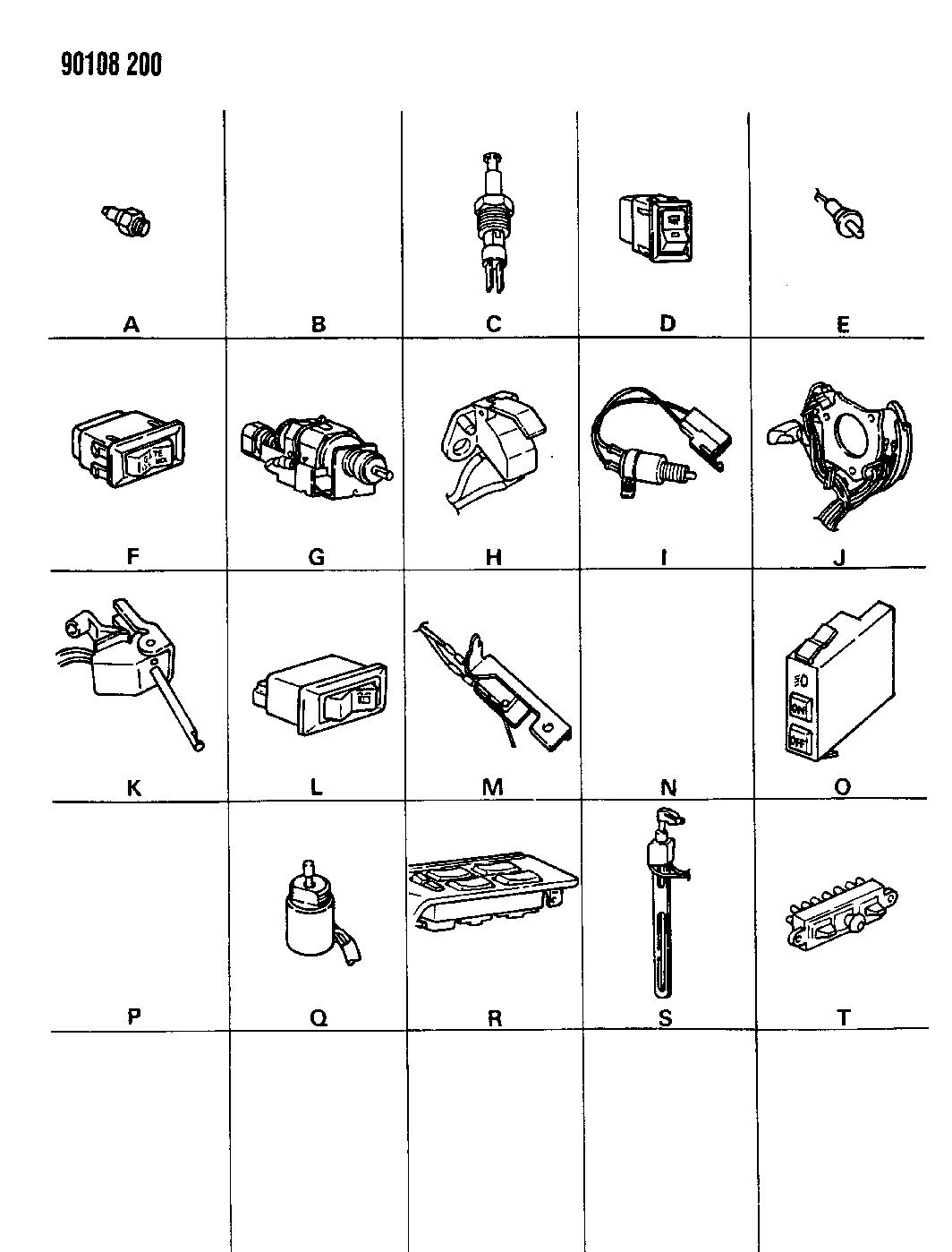 1990 dodge omni switches