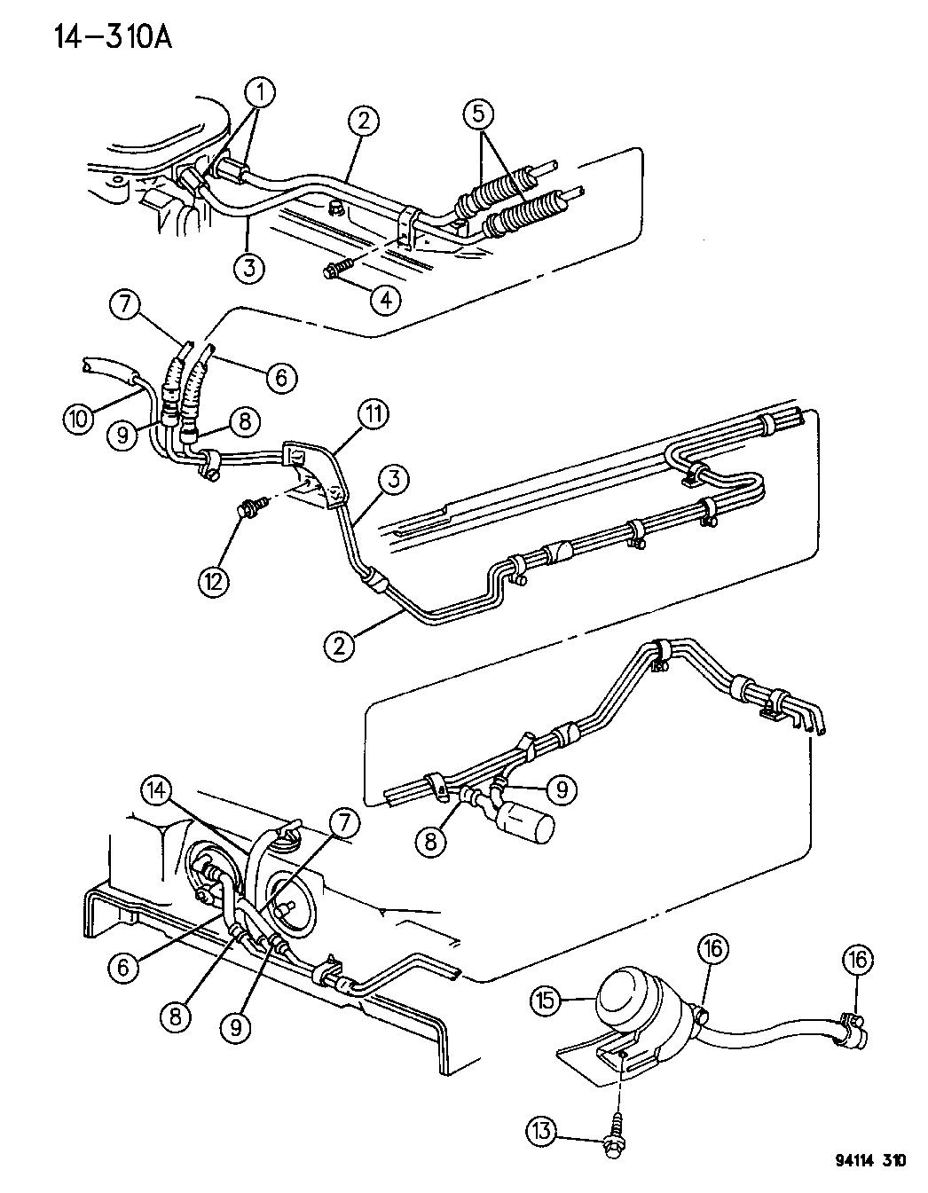 1995 Chrysler LeBaron Fuel Lines & Filter
