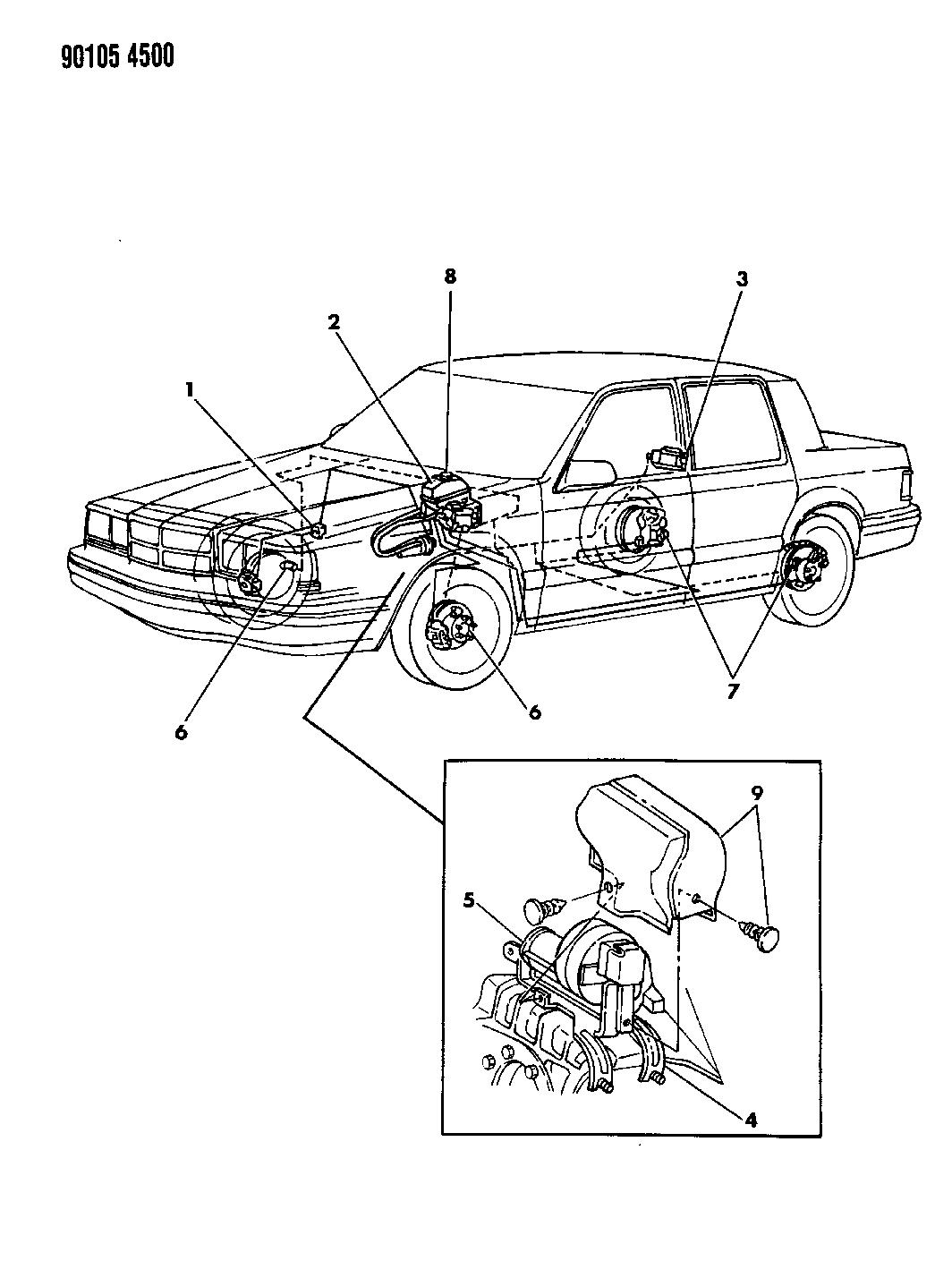 1990 Dodge Dynasty Anti-Lock Brake System - Thumbnail 1