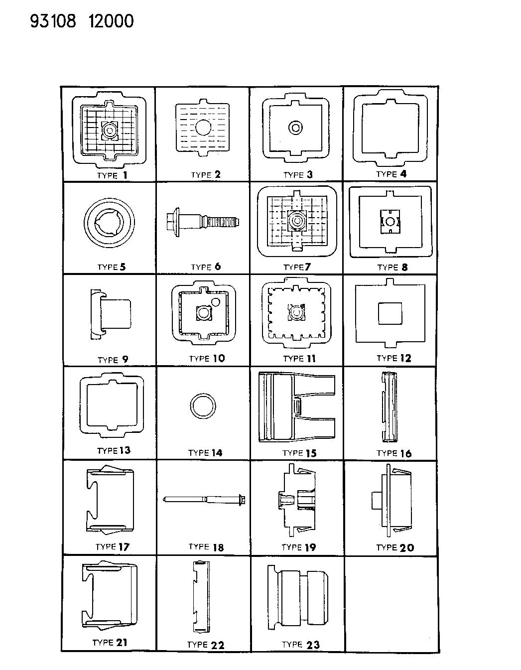 1993 Dodge Daytona Bulkhead Connectors Components 93 Wiring Diagram