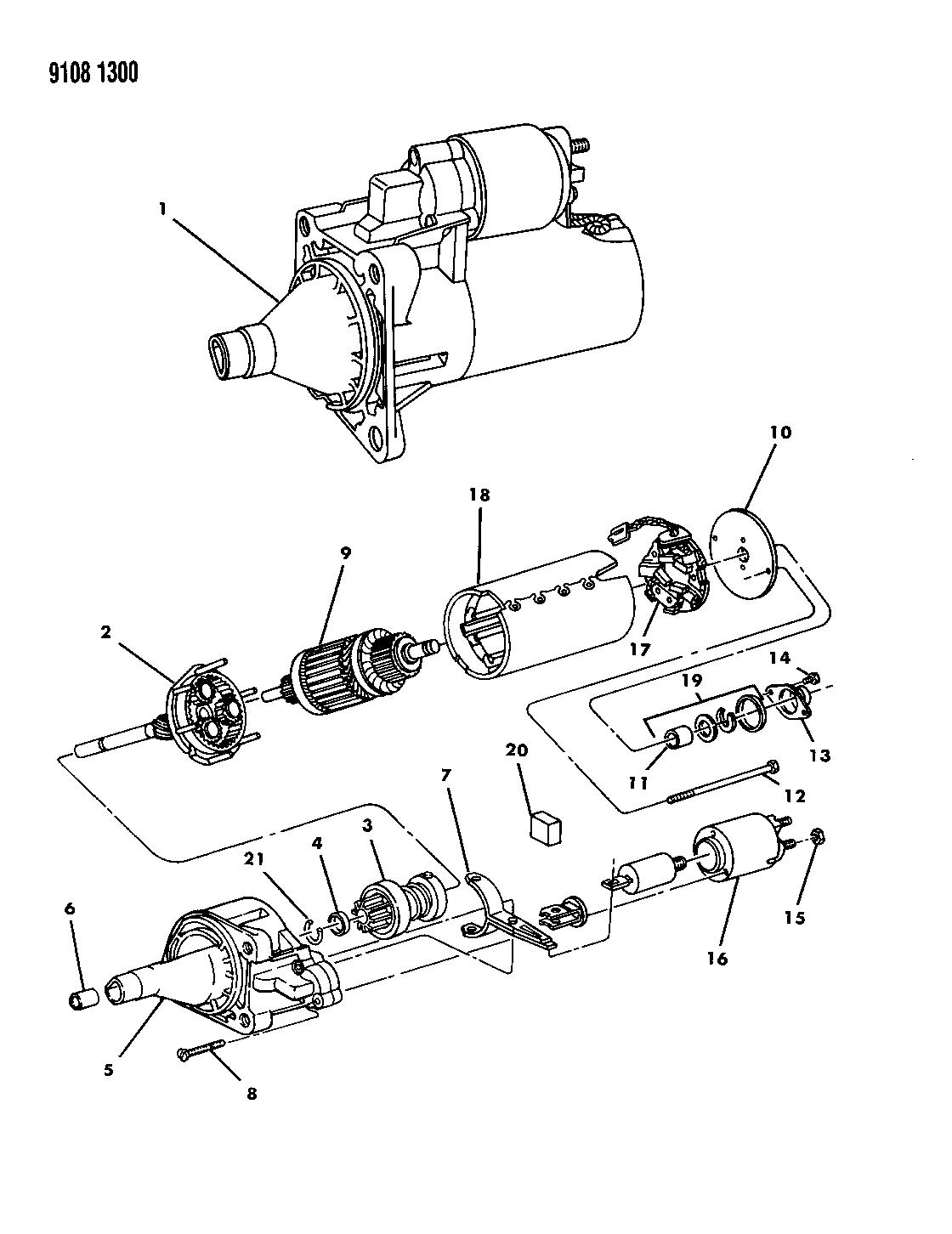 1989 Dodge Aries Starter