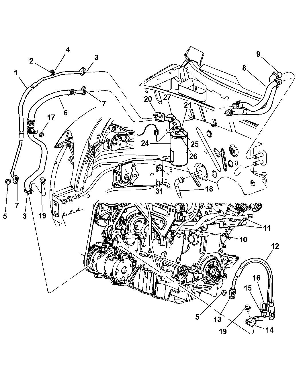 5058487AA - Genuine Chrysler VALVE-A/C LOW PRESSURE CUT OFF