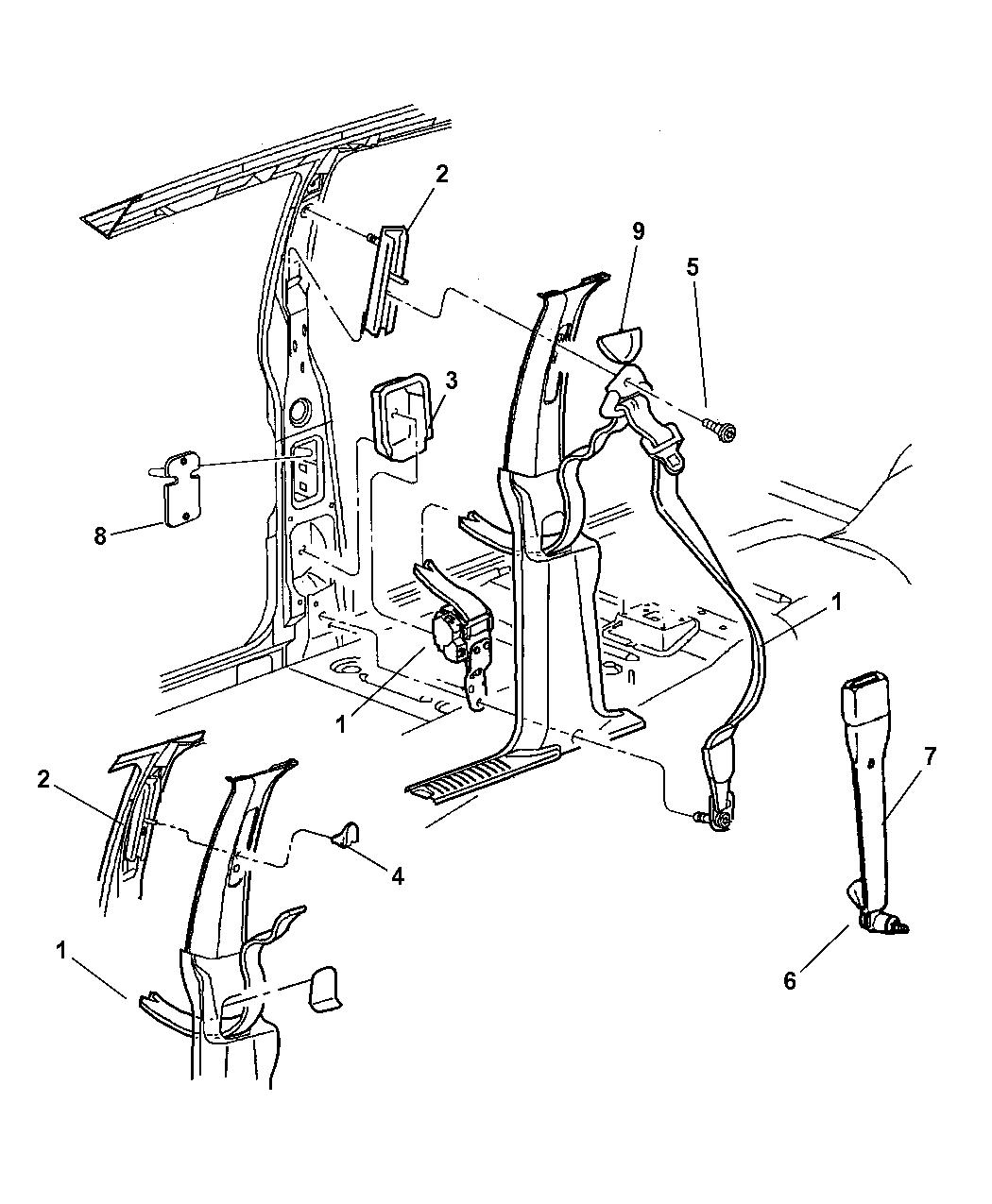 5GD611L5AG - Genuine Mopar SEAT BELT-FRONT OUTER