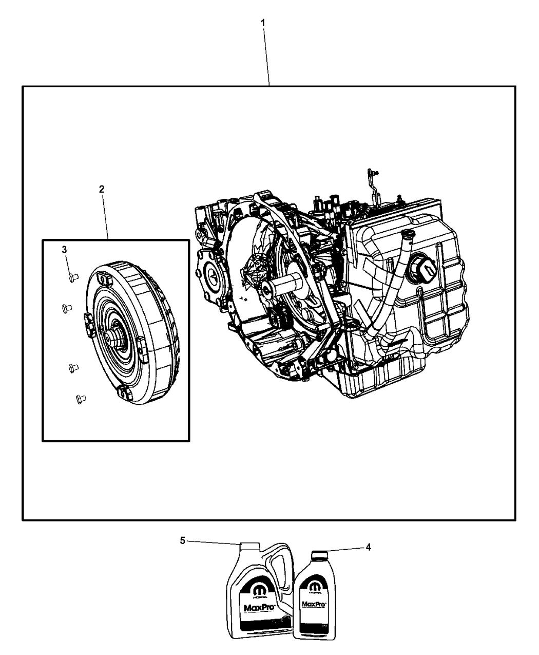 2014 Dodge Grand Caravan Transmission / Transaxle Assembly