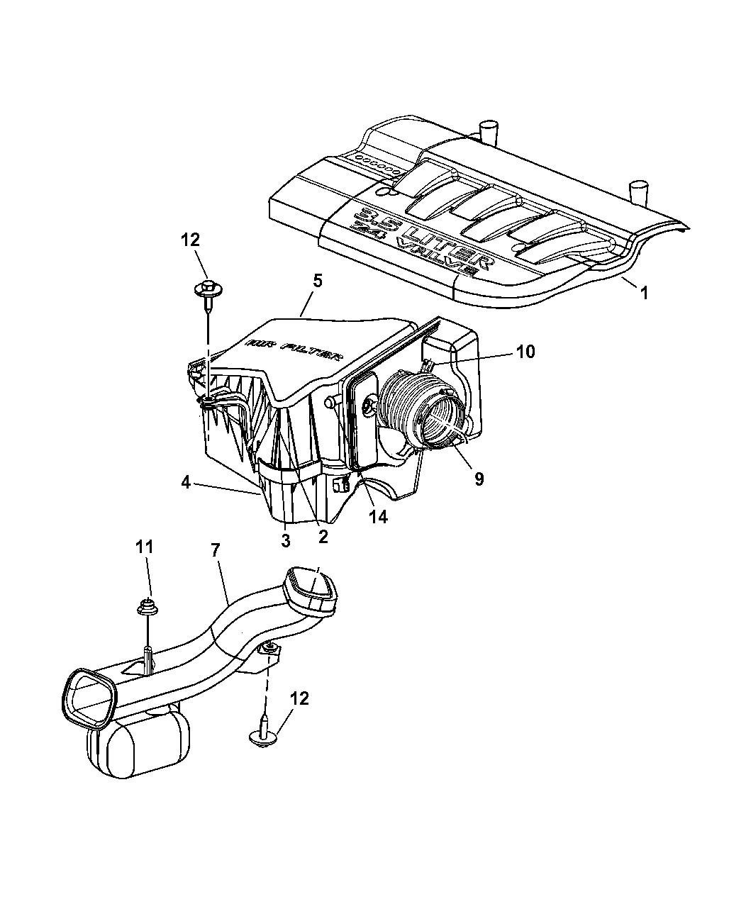 2004 Chrysler Pacifica Air Cleaner & Intake System