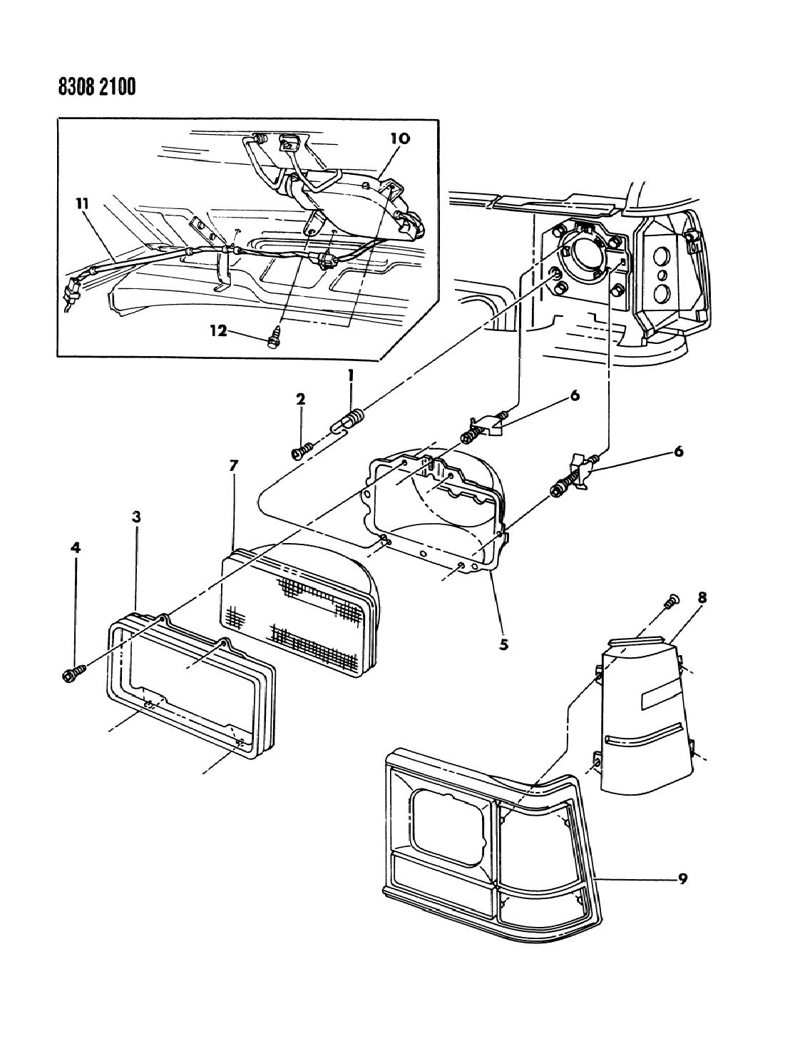 [NRIO_4796]   1989 Dodge Ram Van Lamps & Wiring (Front End) - Mopar Parts Giant | 1989 Dodge Ram Van Wiring |  | Mopar Parts Giant