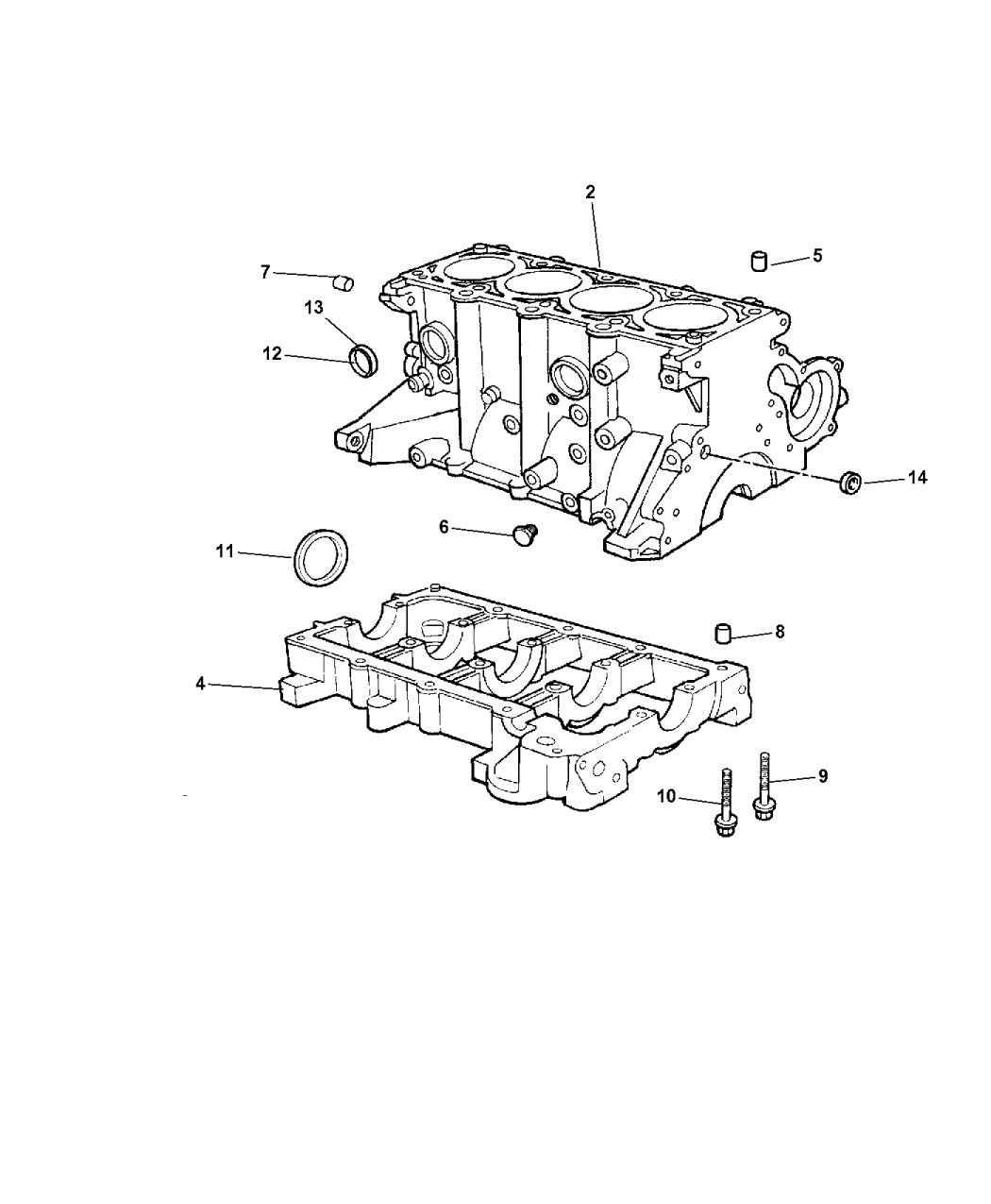 2006 Jeep Wrangler Cylinder Block - Thumbnail 1