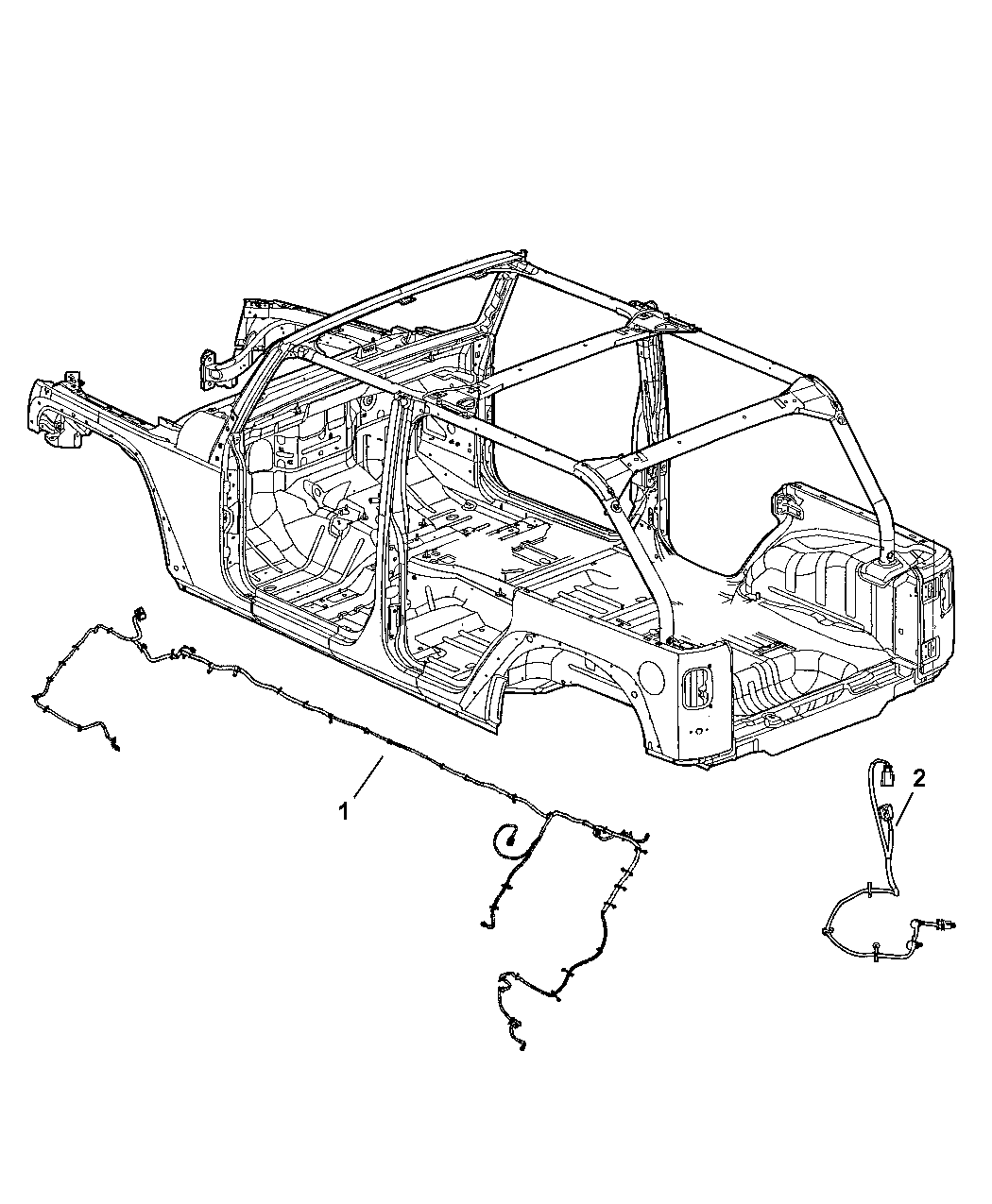 68059252aa genuine mopar wiring chassis 1989 jeep yj wrangler wiring diagram
