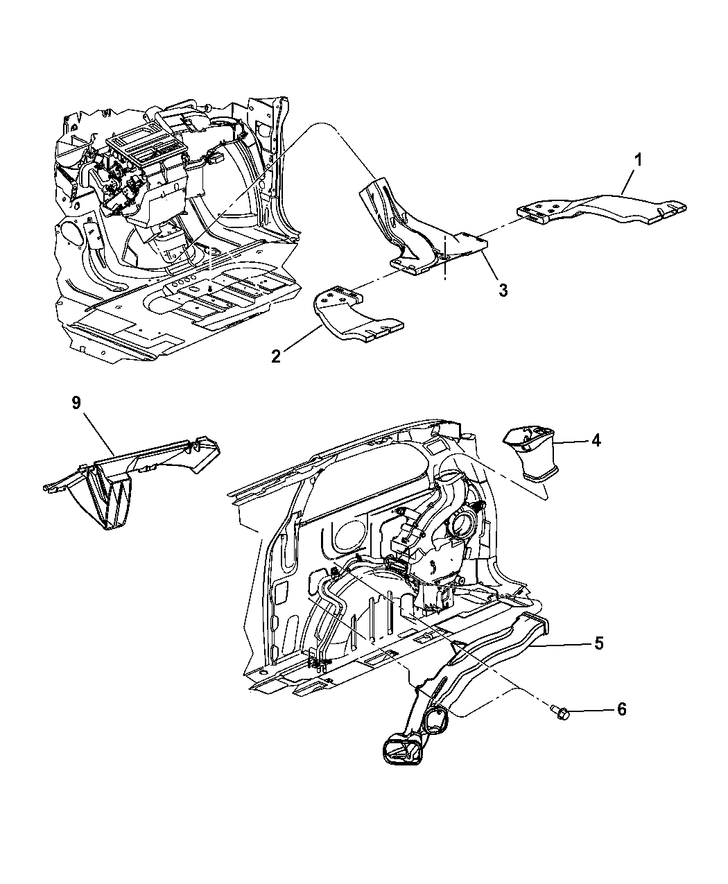 2002 Chrysler Town & Country Ducts & Outlets, Rear