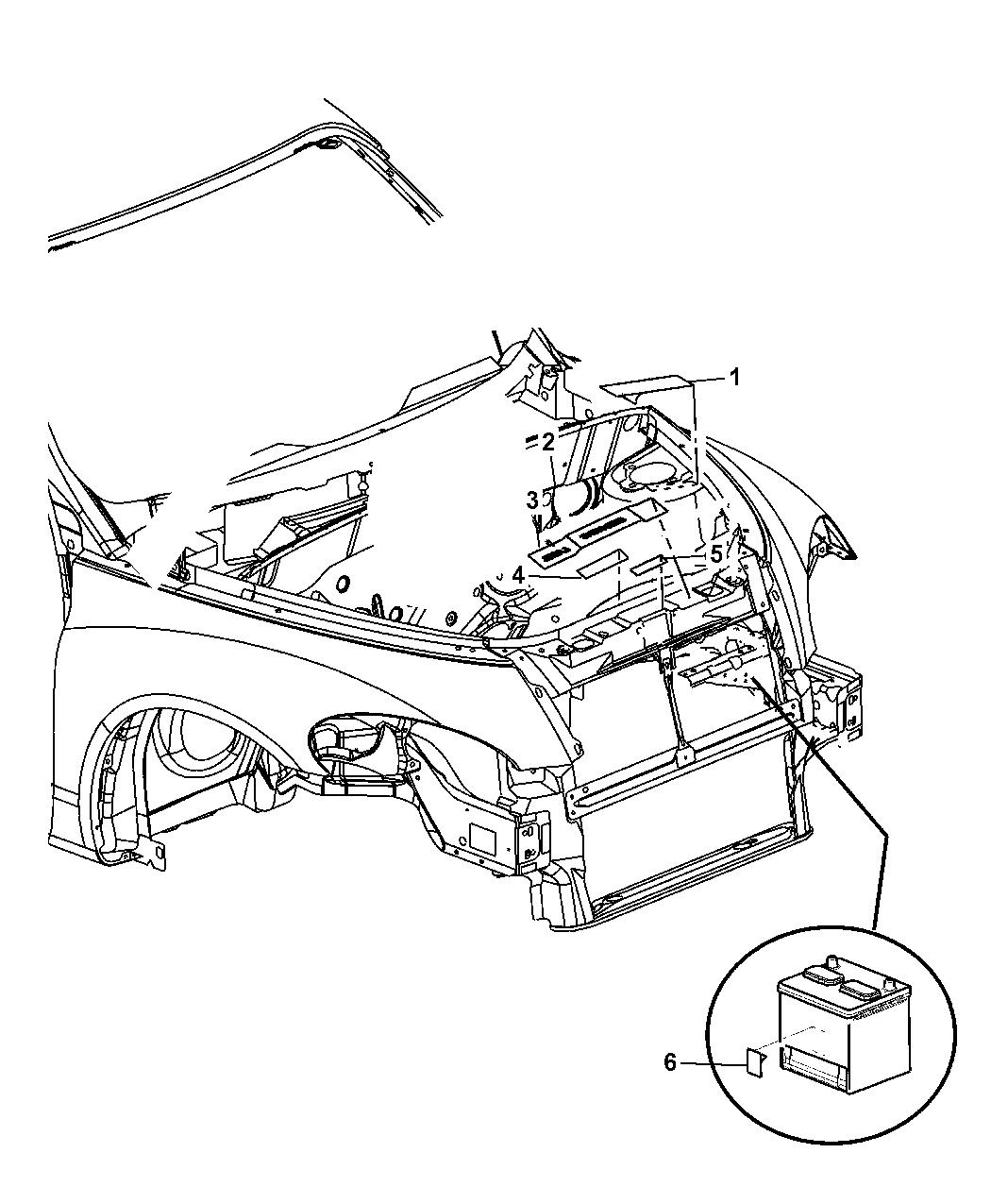 2008 Chrysler Pt Cruiser Engine Compartment