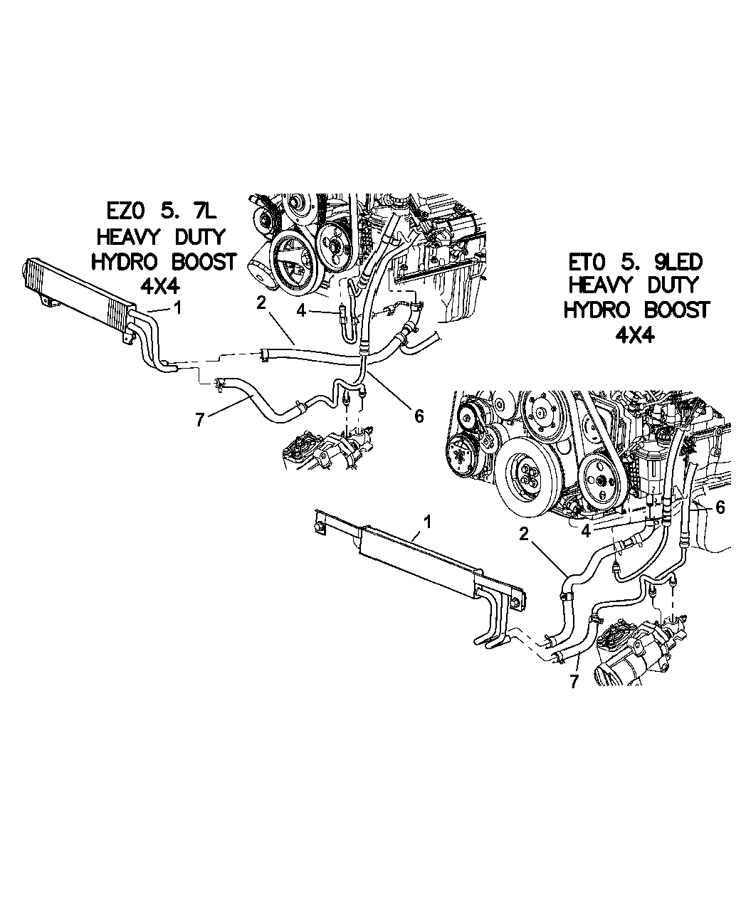 Wiring Diagram: 34 Dodge Ram Power Steering Hose Diagram