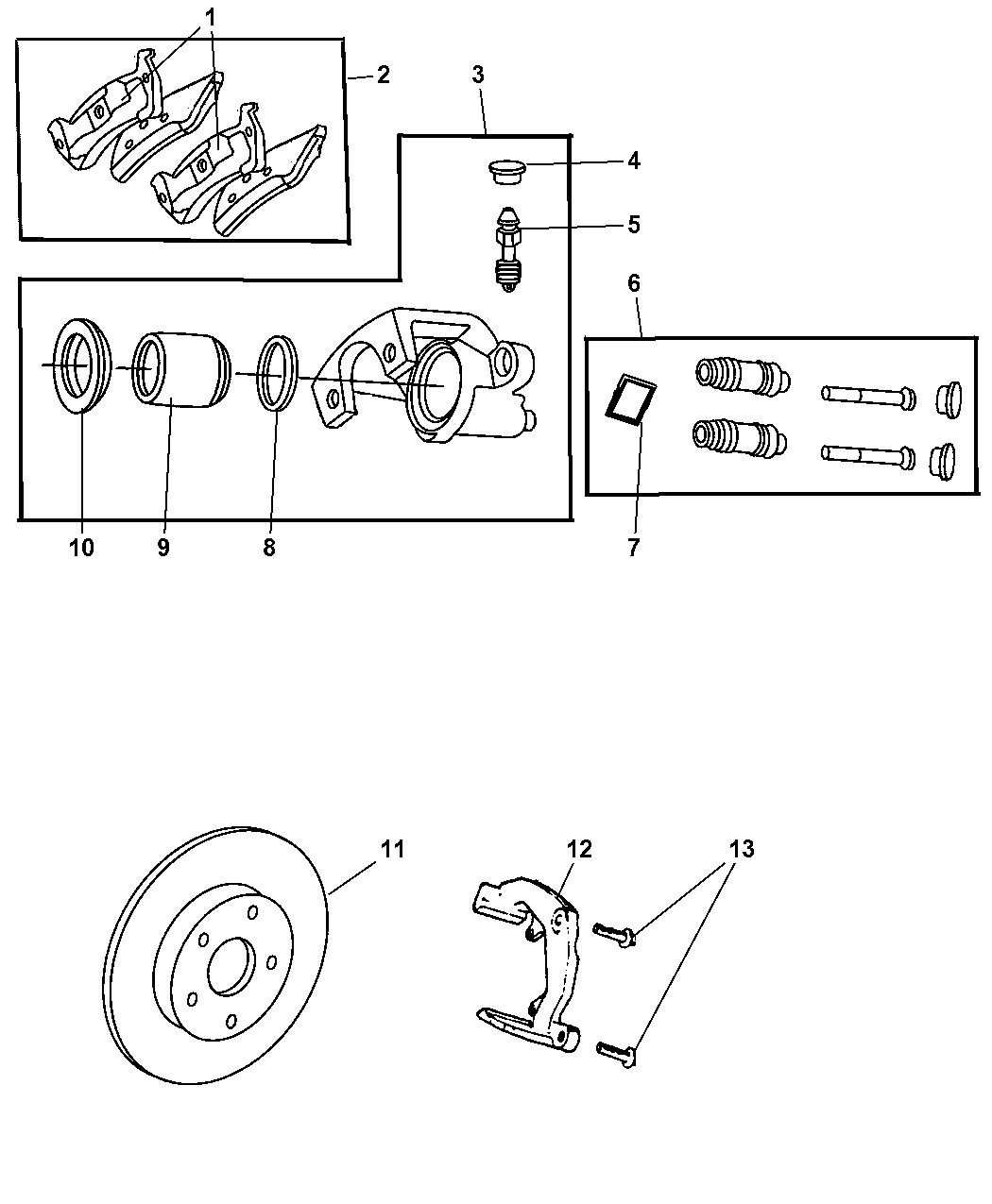5011974aa genuine jeep caliper disc brake. Black Bedroom Furniture Sets. Home Design Ideas