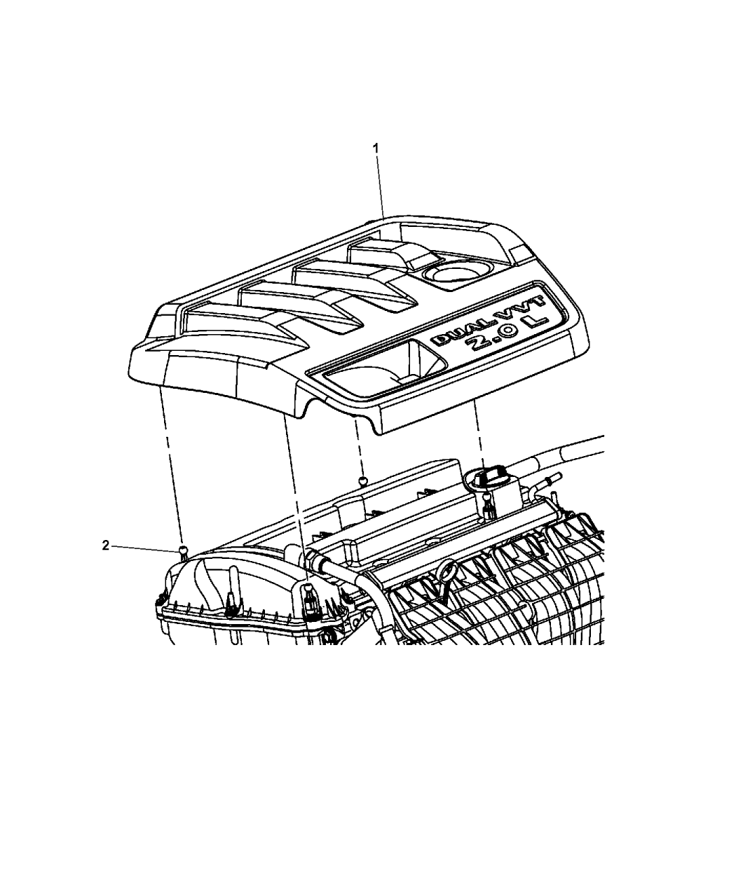 jeep 3 0 engine diagram 2014 jeep compass engine cover   related parts  2014 jeep compass engine cover