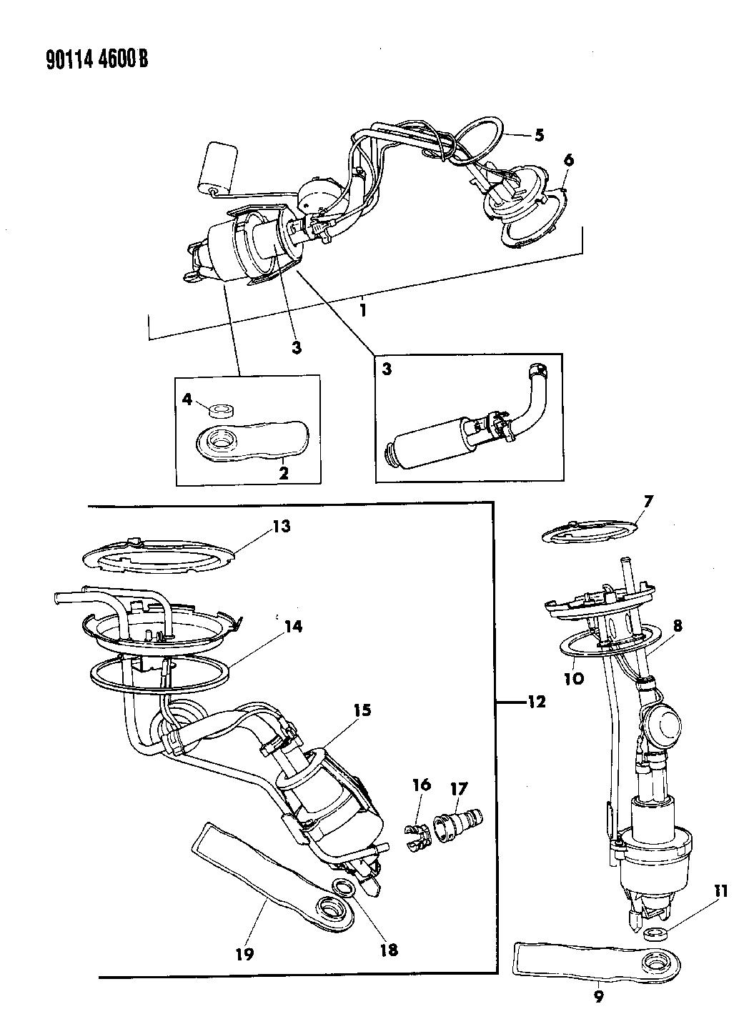 1990 Chrysler Imperial Fuel Pump
