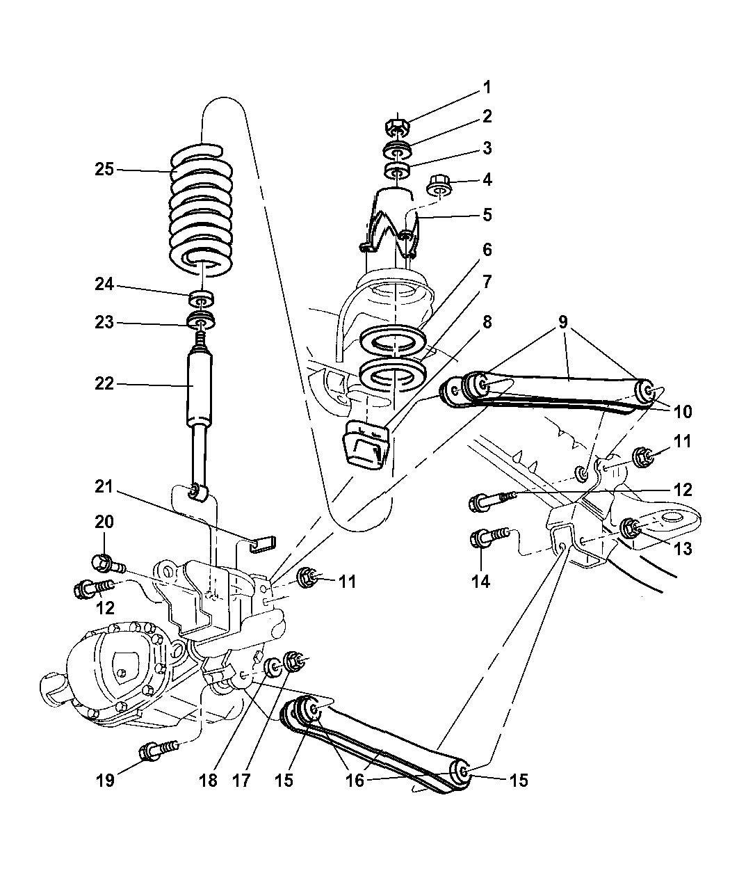 Genuine Chrysler 4897466AA Suspension Absorber Package