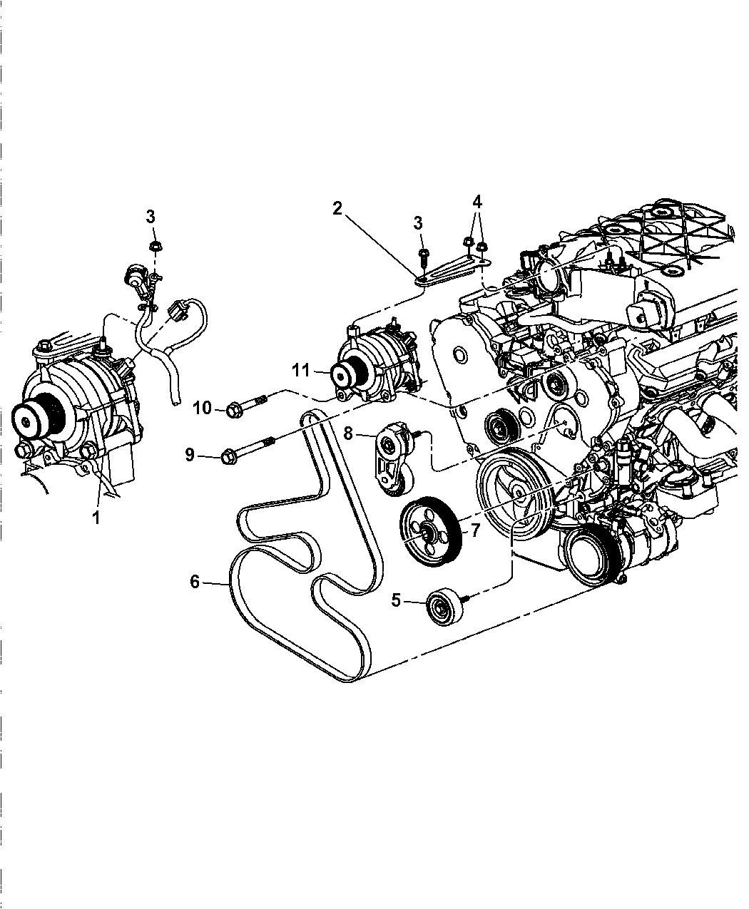 2006 Chrysler Pacifica Alternator
