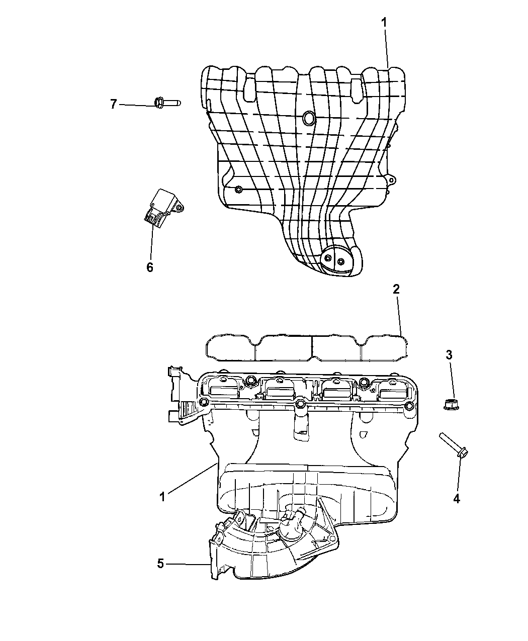 2011 chrysler 200 intake manifold mopar parts giant 2011 mazda cx7 engine diagram 2011 chrysler 200 intake manifold thumbnail 1