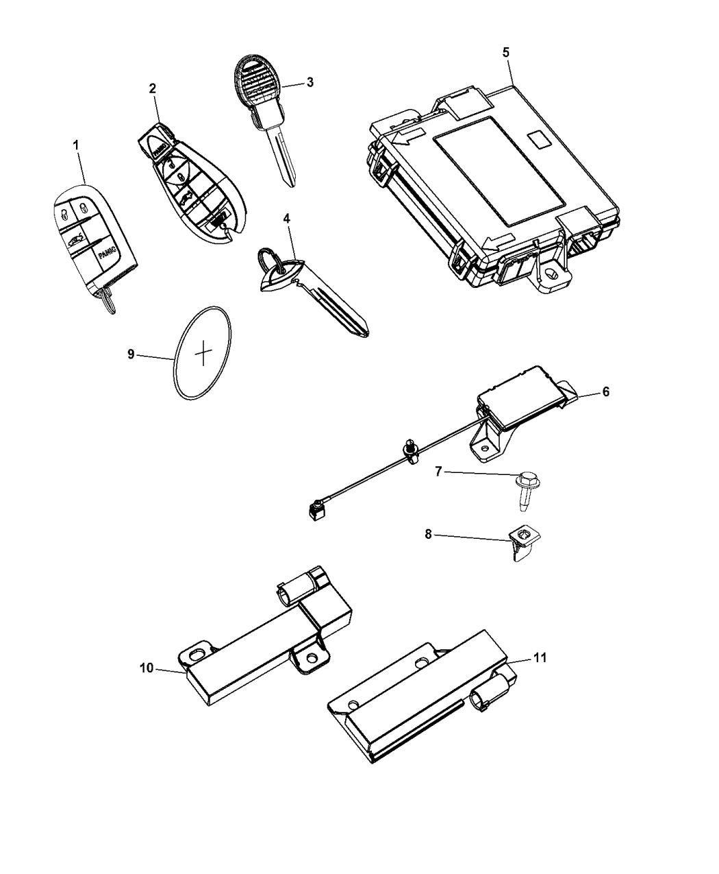 2014 Dodge Dart Modules Keyless Receiver Transmitter And Antenna Wiring Diagram
