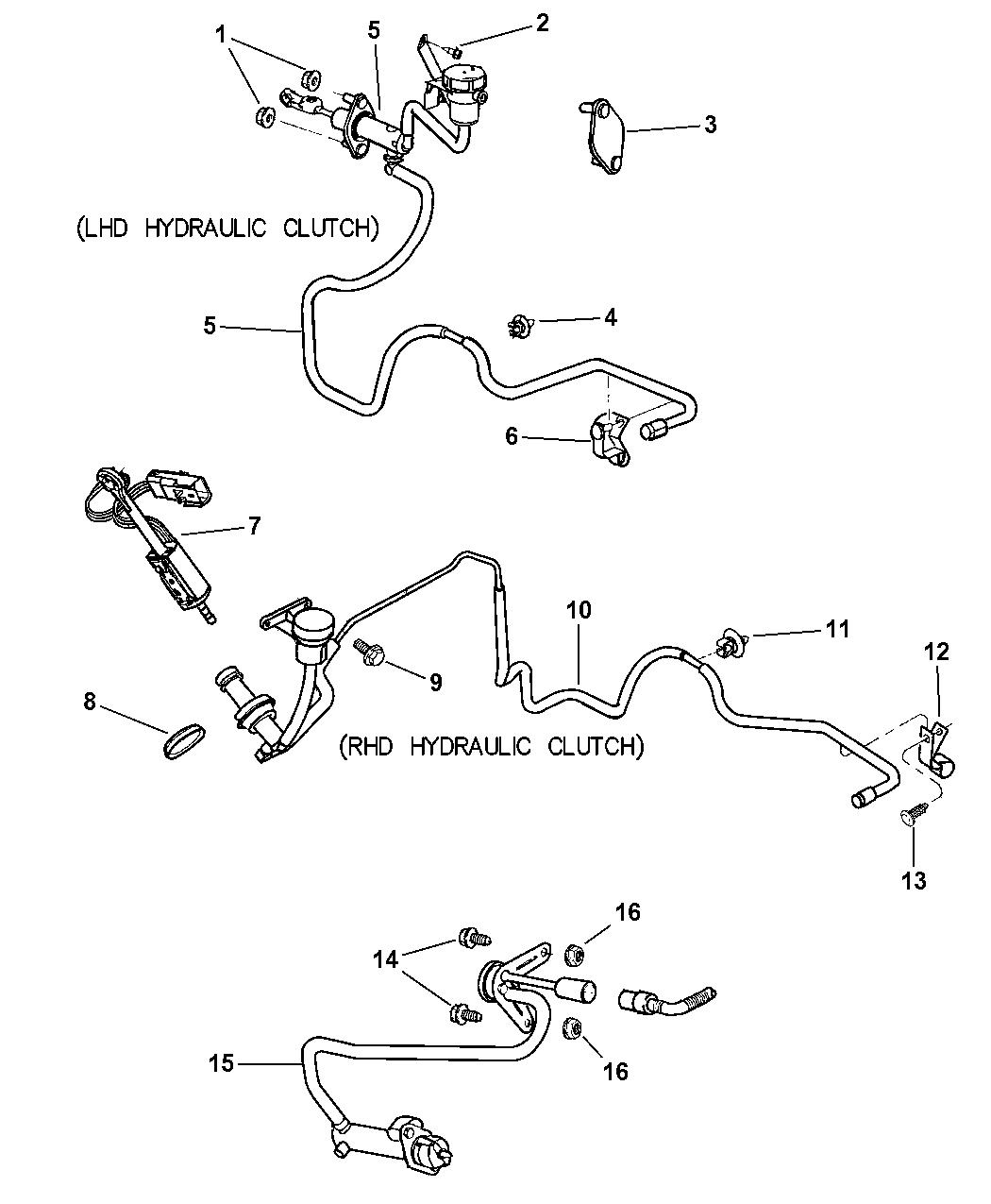 2001 Dodge Neon Controls, Master Cylinder & Slave Cylinder