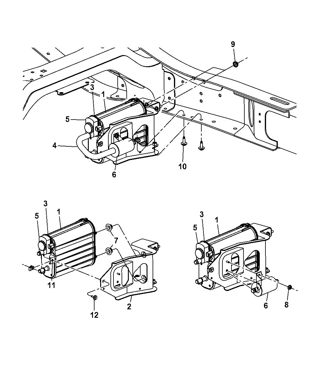 Genuine Dodge BRACKET-VAPOR CANISTER
