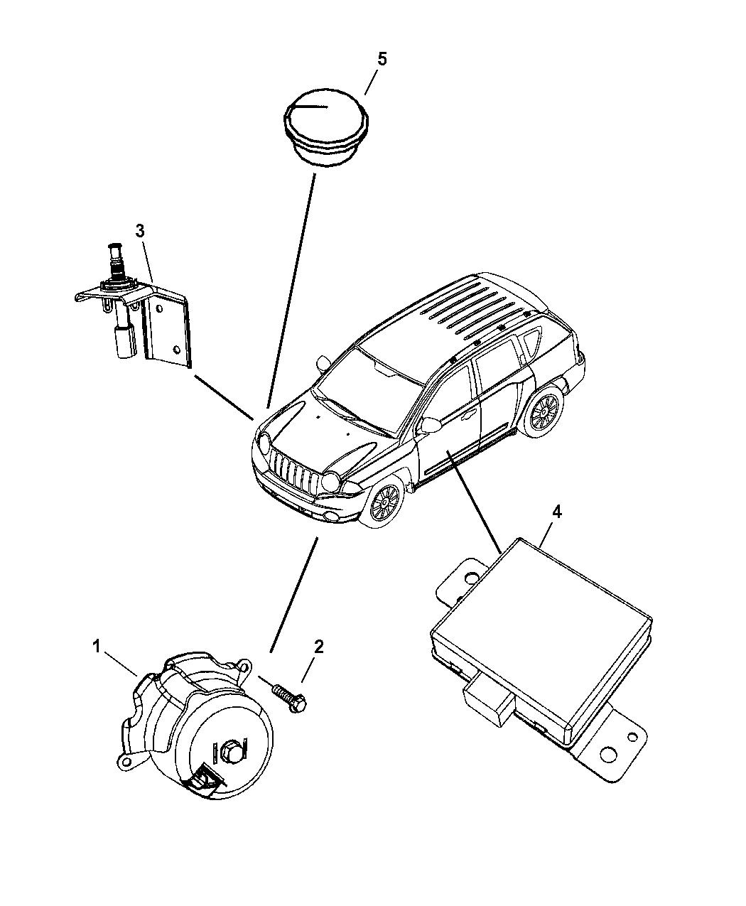 jeep patriot alarm system