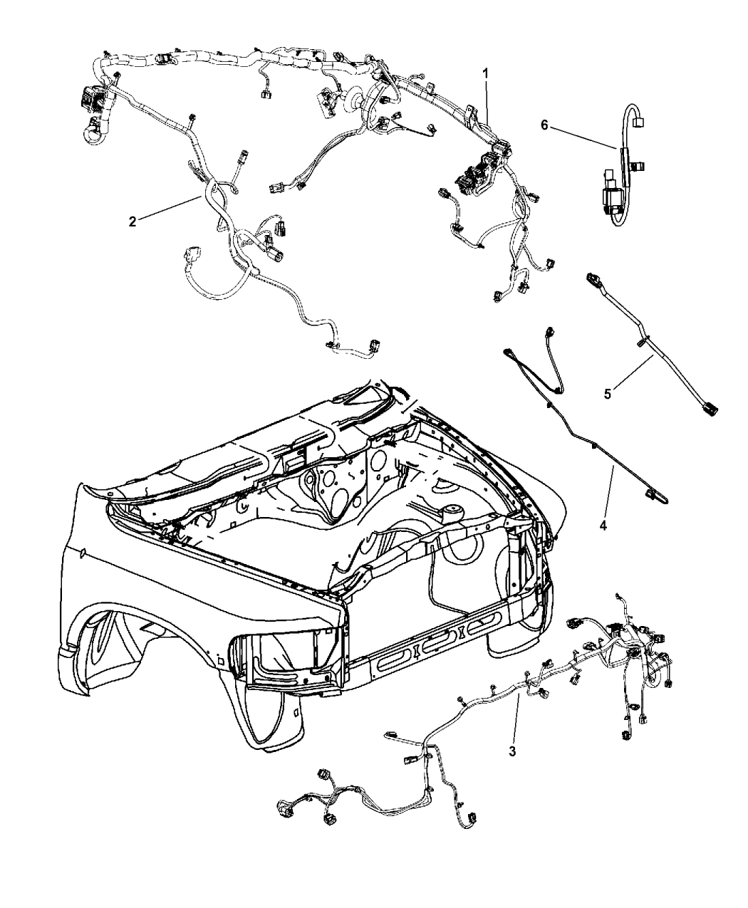 4801811AA - Genuine Dodge WIRING-JUMPER
