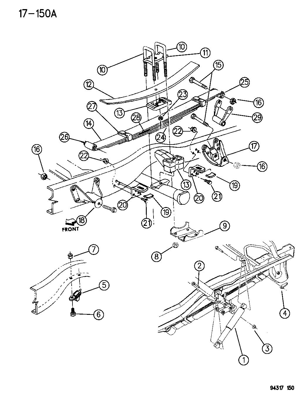 52038457  Genuine Mopar PLATEREAR SPRING CLIP