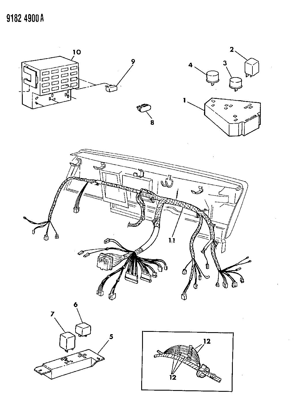 1989 Dodge Dynasty Instrument Panel Wiring