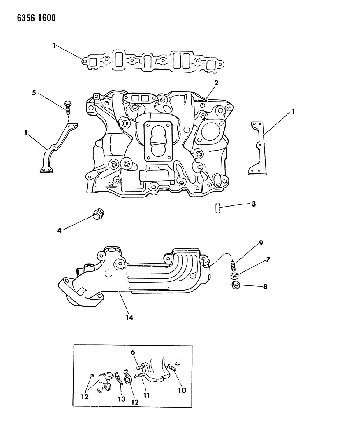 1987 dodge dakota manifold intake \u0026 exhaust mopar parts 2000 Dodge Dakota Engine Diagram