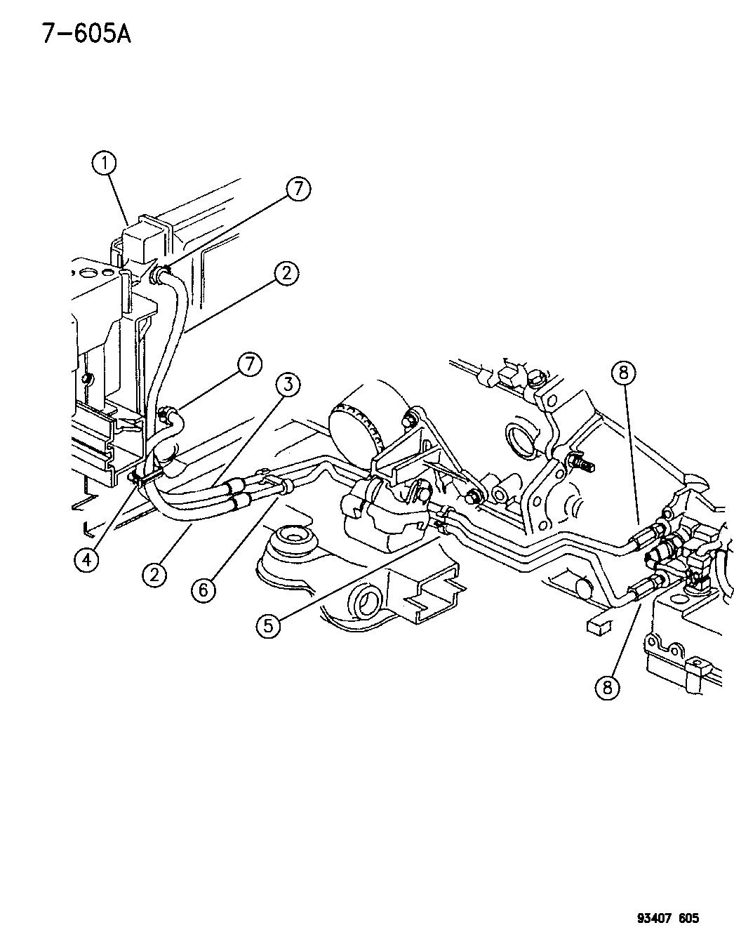 1996 Dodge Intrepid Transmission Oil Cooler Mopar Parts Giant