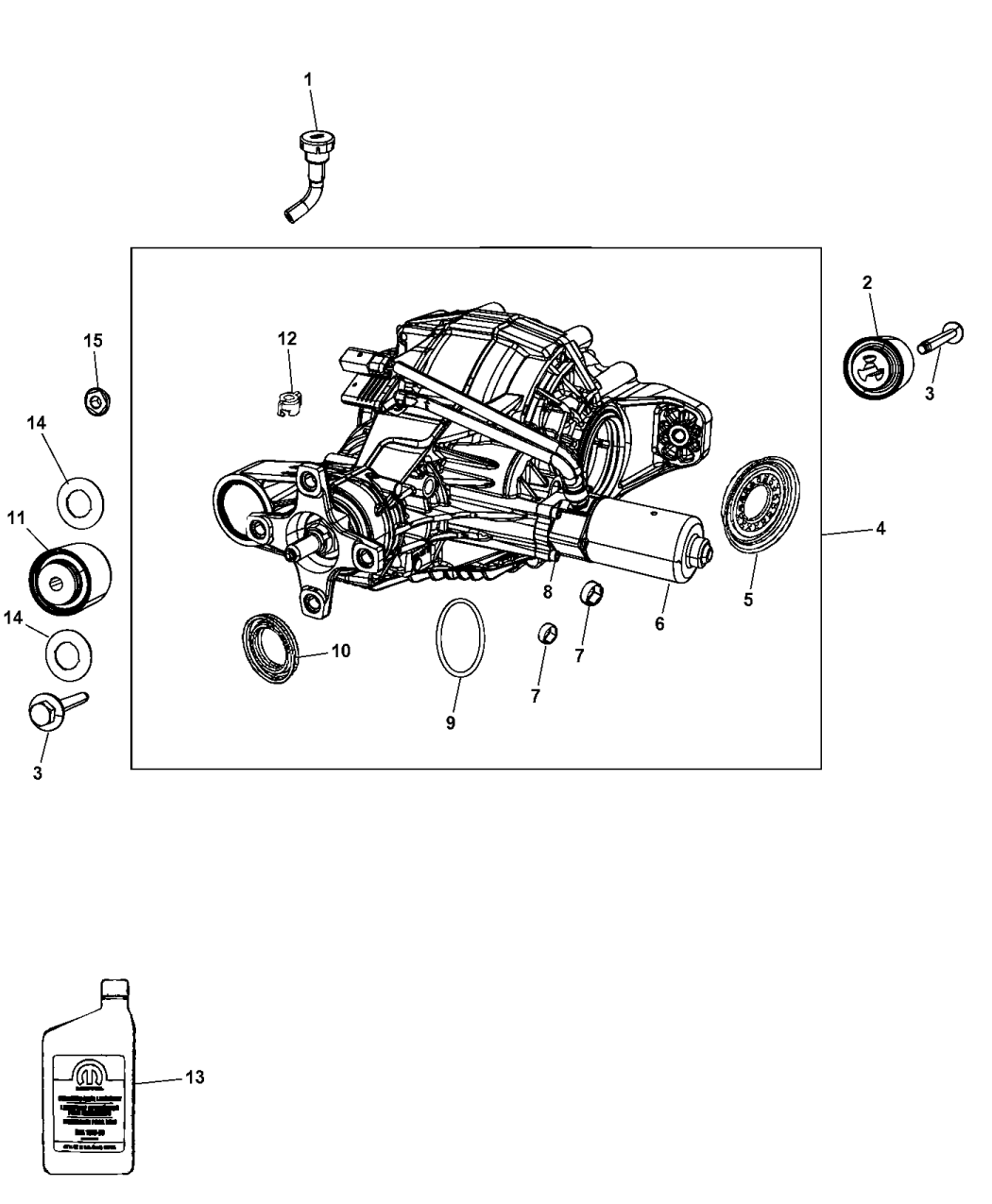 2015 Jeep Grand Cherokee Axle Assembly And Components of Rear Axle
