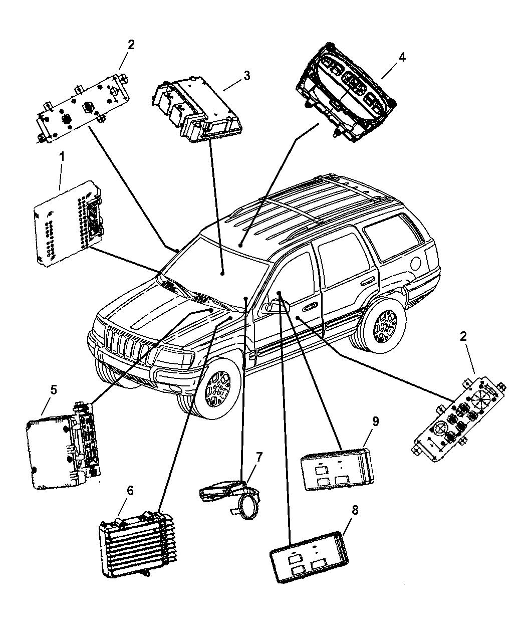 56042498AM - Genuine Jeep MODULE-BODY CONTROLLER