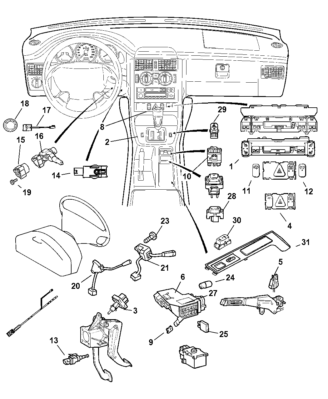 68001655AA - Genuine Mopar HOUSING-IGNITION SWITCH