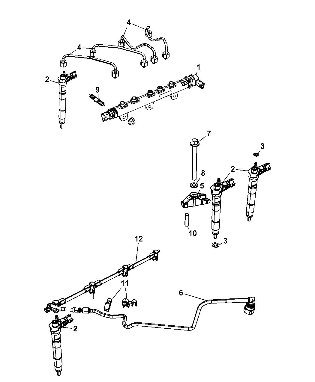 2007 Jeep Wrangler Fuel Rail Injectors Mopar Parts Giant Engine Diagram