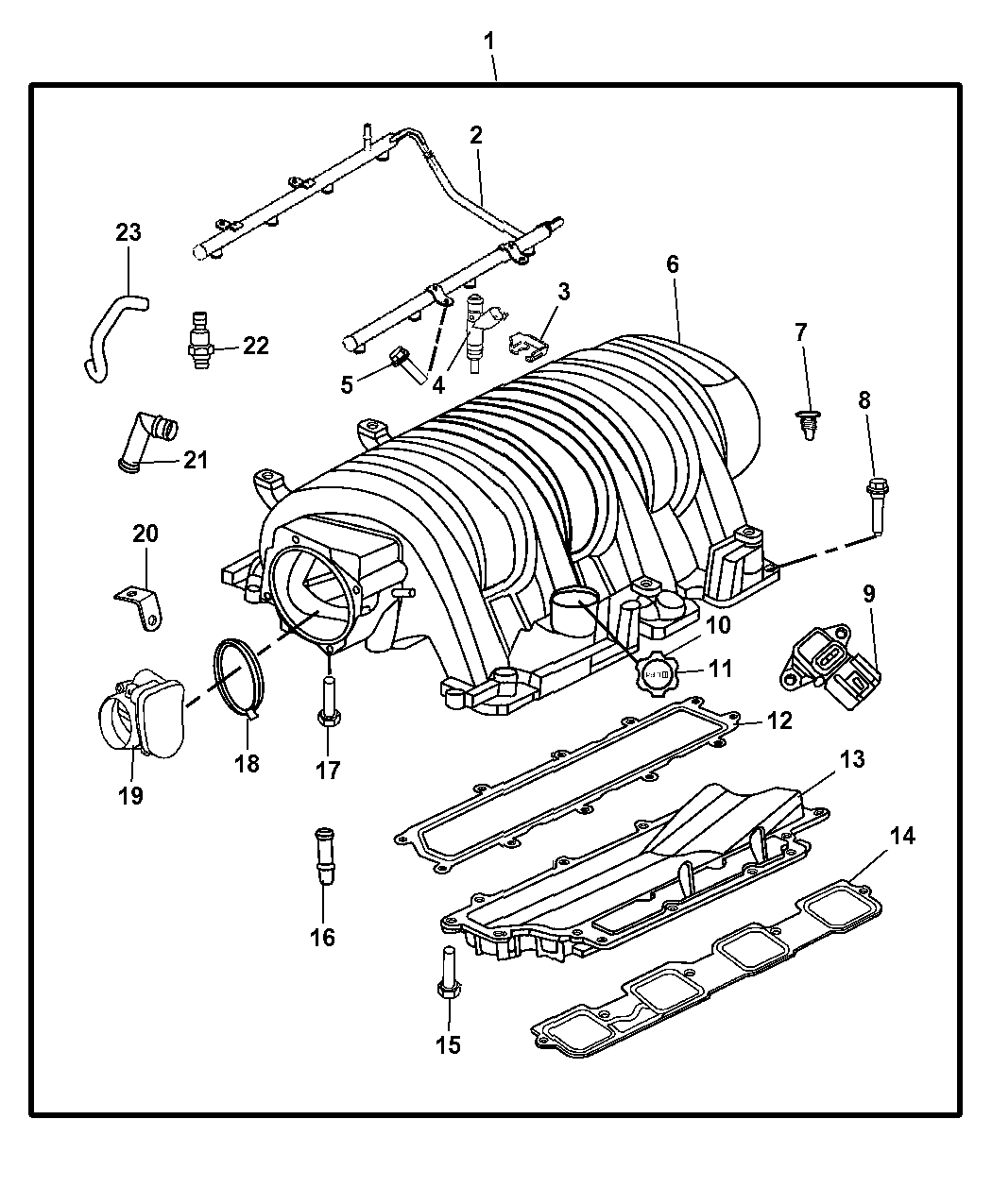 dodge engine diagram of intake