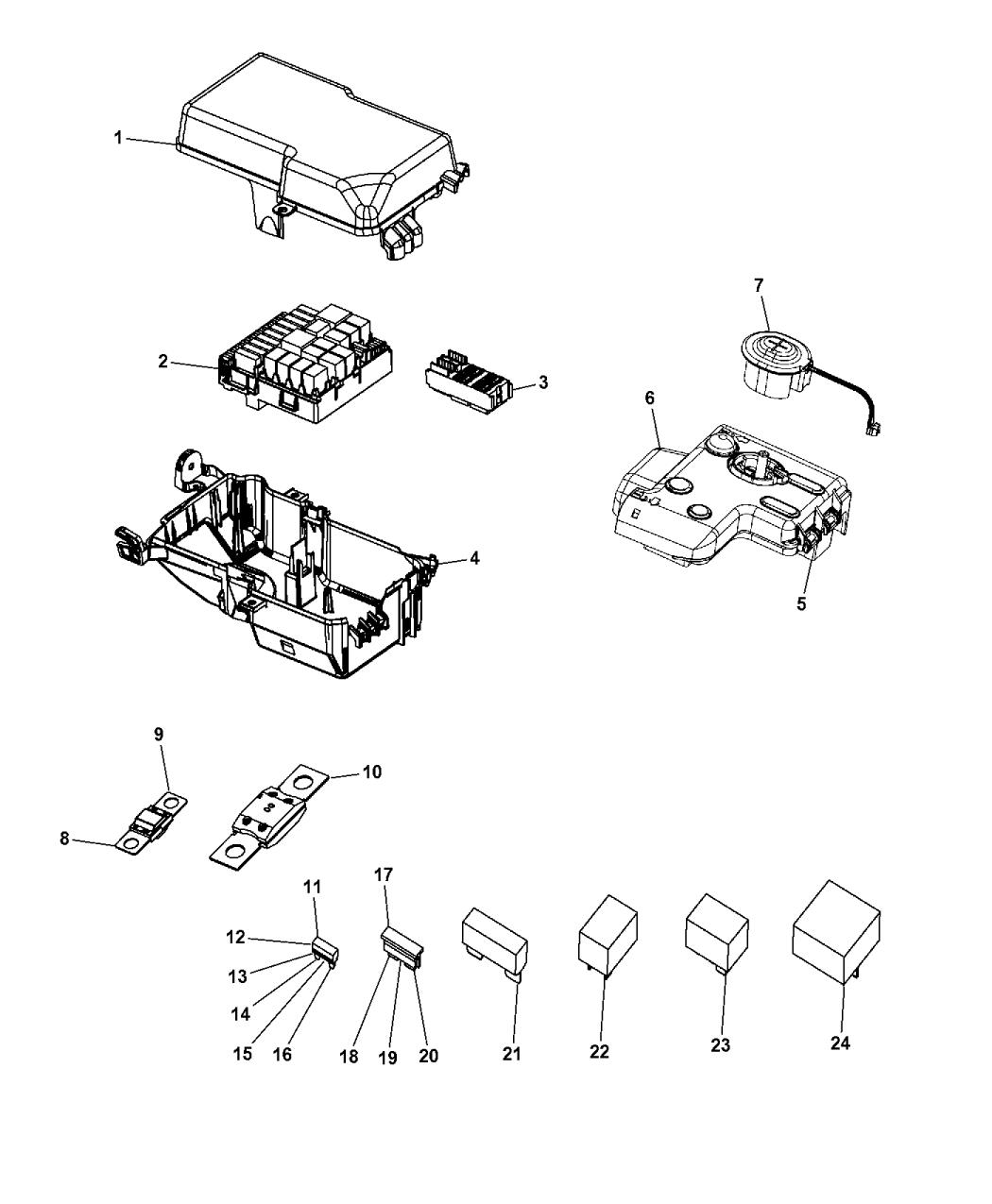 2014 Dodge Dart Power Distribution Center Mopar Parts Giant Wiring Diagram