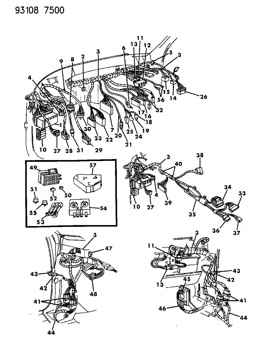 1993 dodge spirit wiring - instrument panel
