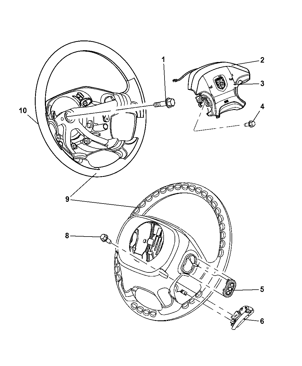 YP211DVAB  Genuine Mopar WHEELSTEERING
