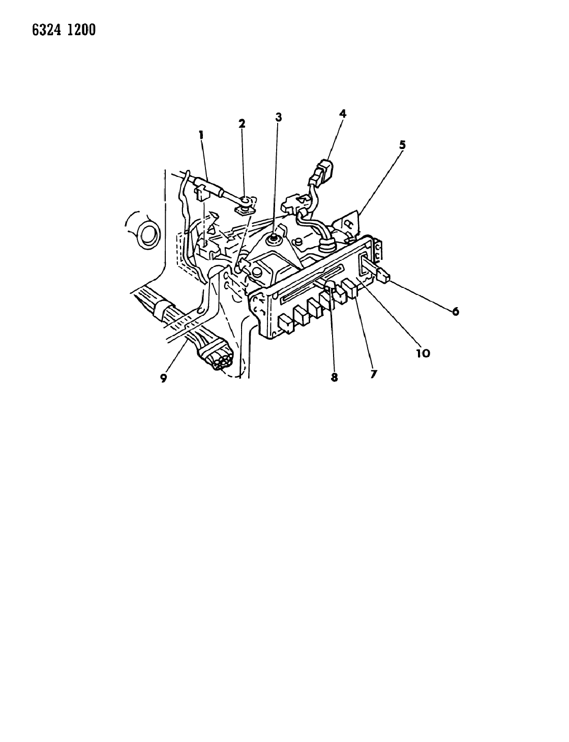 1987 Dodge Ramcharger Control, Air Conditioner