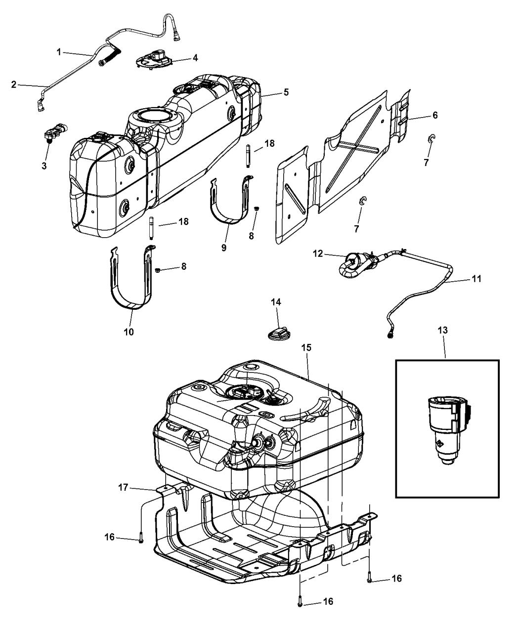 Diesel Engine Diagram Fuel Tank Condensation: Genuine Mopar TANK-FUEL